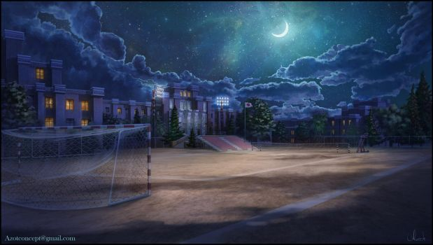 School Ground at Night by Azot2017