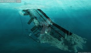 Death throes of the Britannic by lusitania25