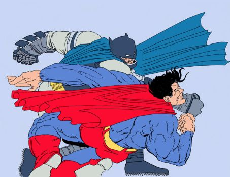 Batman vs Superman coul by louboumian