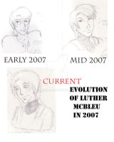 Evolution of Luther Year 2007 by Amyln