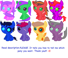 Free Pony Adopts!!! 2 by YAYSISTERS