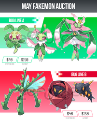 [ENDED] May Fakemon Auction by zerudez