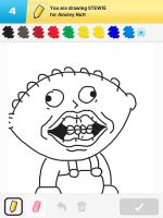 Draw Something - Stewie by Kirby-Force