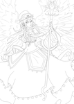 Naomi - Guardian Angel :lineart: by Serene-SimpliciT