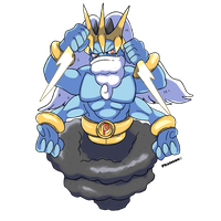 PokeFusion - Machamp x Thundurus