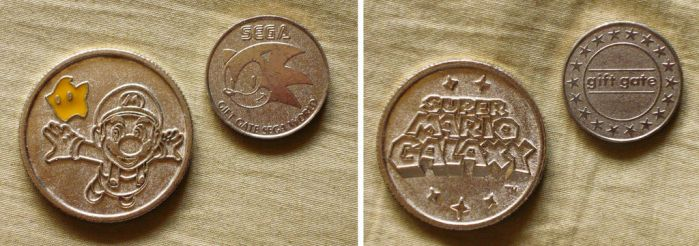 Mario Launch Coin and Sonic Gift Gate Token by KambalPinoy