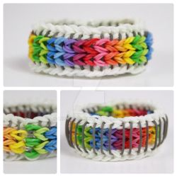 Sailor Pinstripe Rainbow Loom Over the Rainbow by MissTopaz
