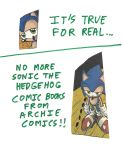 No more Sonic comic books from Archie comics by dth1971