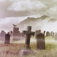 Misty Graveyard by Binkski