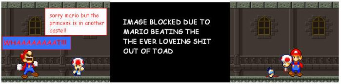 sorry mario...sorry toad by jackthesquirrel