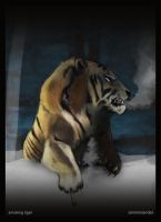 Smoking tiger by AzArm222