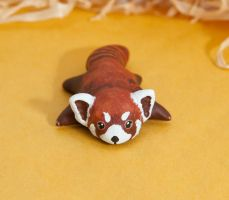 Lazy Red Panda totem by lifedancecreations