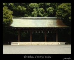 The Stillness of Mejii Temple by jadeoracle