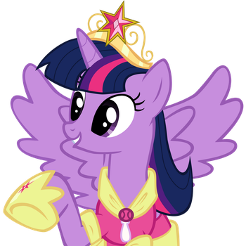 Princess Twilight Sparkle -No background- by SlyFoxCl