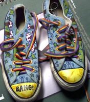 Trippy Shoes by bentmywookie