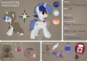 :Searcher: Cobalt Moonstone by DrawnTilDawn