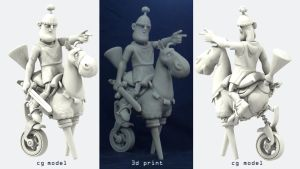 George and Mildred 3D Print by mattbag