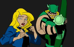 Dinah and Ollie by DCFangirl01