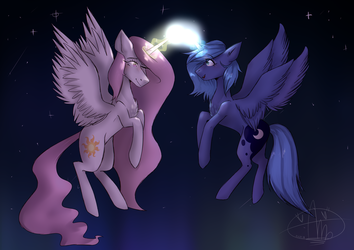 Sisters [MLP ART] (Redraw v4) by Amyx33PL