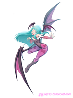 Morrigan Childhood by jaguare19