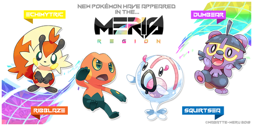 Meris Region Pokemon 3 by Wabatte-Meru