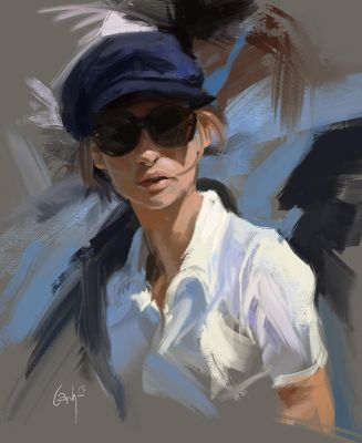 Messy oilpaint sketch by bbach