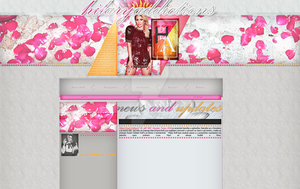 Ordered layout with Hilary Duff by redesignbea