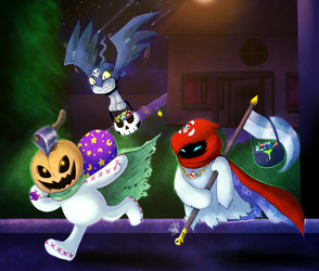 digimon halloween by thepipefox