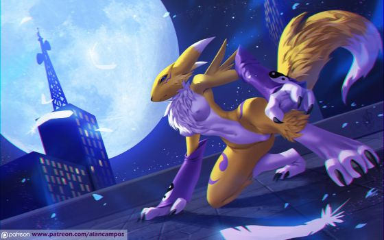 Renamon / redraw by playfurry
