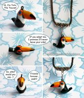 For Sale: Toto The Toucan bird charm pendant by emmil