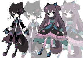 victorian Nekomimi adoptable batch closed by AS-Adoptables