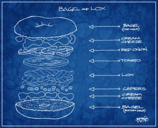Happy Bagel and Lox Day by BillyJebens