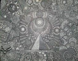 OMEGAPOINT SACRED GEOMETRY 300HR SHARPIE DRAWING by rico1art