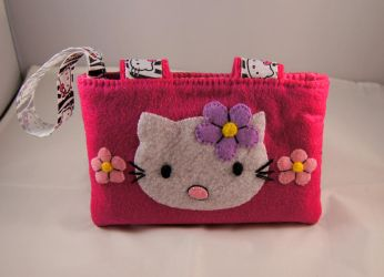 Hello Kitty 3DS Case by VickitoriaEmbroidery