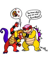 Roy Koopa and Hooktail Jr by DragonTeens