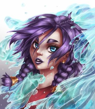 Water Portrait by Huksly