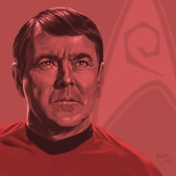 Star Trek TOS portrait series 06 - Scotty - Doohan by jadamfox