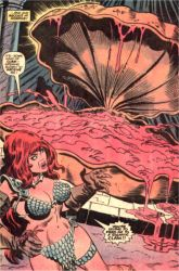 Red Sonja vs Giant Clam #1. by 4thcoming