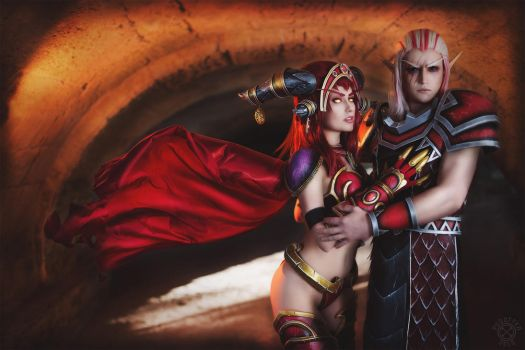 World of Warcraft - Queen and her Consort by Narga-Lifestream