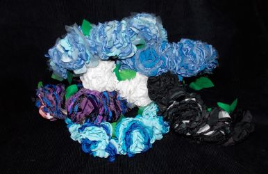 Handmade Fabric Flower Crowns by AbleSistersFanCrafts