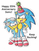 .:Sonic 20th Anniversary:. by Chichalovescandy
