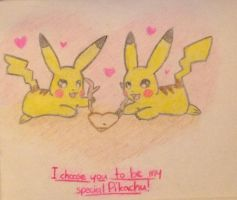 A Couple of Pikachus by pheonix548