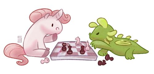 Playing Chess by Seanica