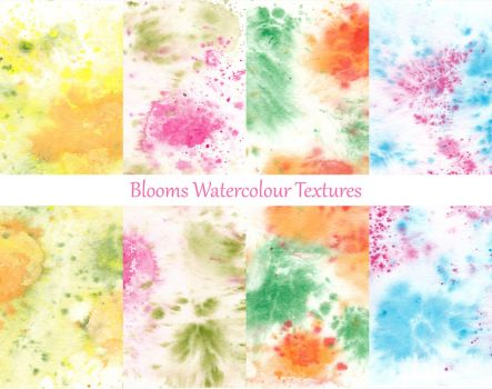 Blooms - Watercolour Texture Pack by LualaDy