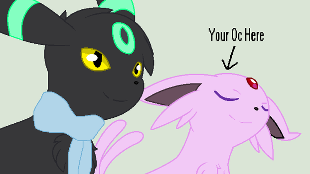 Viche And Your Espeon Oc by Pennythegreatpokemon