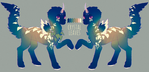 crystal leaves - rum dragon auction (closed) by krooku