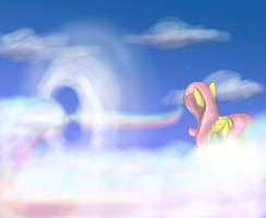 What is Fluttershy Looking At? by Phendyl