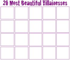 20 Most Beautiful Villainesses by jacobyel
