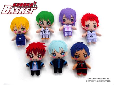Kurobasu mini plushies by oinkwarrior