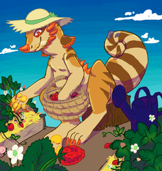 Glider tending to his Strawberries by Heathereeni